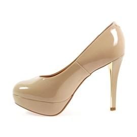 Sapato Vizzano Plataforma Salto Fino Feminino Bege