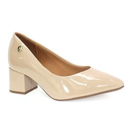 Sapato Vizzano Salto Bloco Feminino Bege