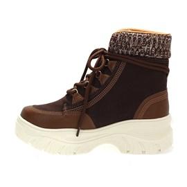 Tênis Boot Ramarim Camurça Feminino Marrom