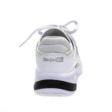 Tênis Comfortflex Lycra Paris Feminino Branco