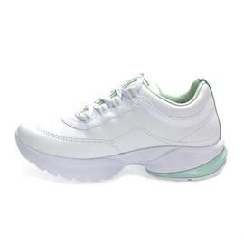 Tênis Comfortflex Napa Vest Plus Feminino Branco e Verde