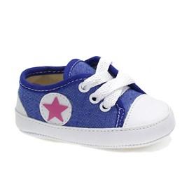 Tênis Lopys Pé Estrela Baby Menina Azul