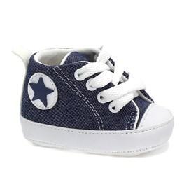Tênis Lopys Pé Estrela Baby Menino Azul Jeans