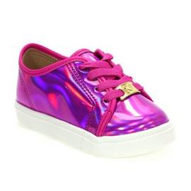 Tênis Molekinha Napa Fluor Menina Pink