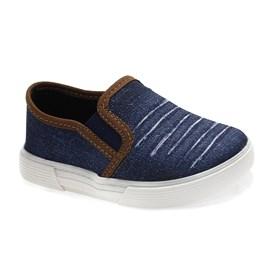 Tênis Molekinho Jeans Menino Azul