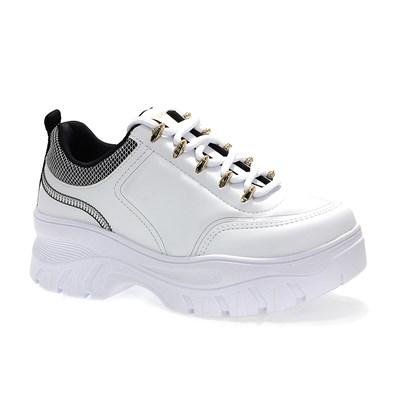 Tênis Ramarim Flatform Napa Vest Plus Feminino Branco