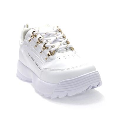 Tênis Ramarim Napa Vest Plus Feminino Branco e Dourado